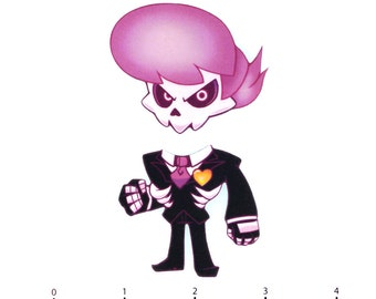"Mix and Match Magnets: Lewis (Mystery Skulls ""Ghost"")"
