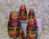 Russian Folk Nesting Dolls Matryoshka Matreshka Set Of 7 USSR