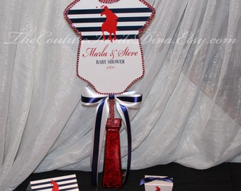 Polo Prince Baby Shower Centerpiece, Polo Prince Onesie Baby Shower Centerpiece, Polo Prince Themed Baby Shower Decoration