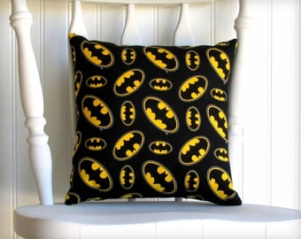 Batman - Small Throw Pillow - Bat Signal