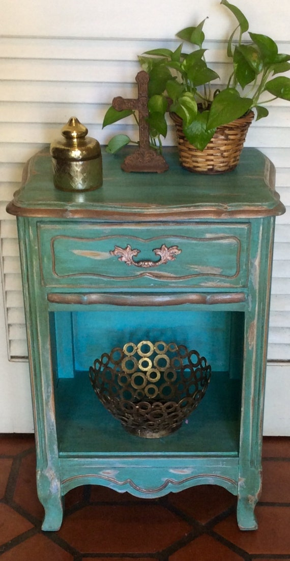 french style shabby chic nightstand. Black Bedroom Furniture Sets. Home Design Ideas