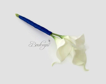 CHOOSE RIBBON COLOR - Calla Lily Bouquet, Real Touch Bouquet, White Calla Lily Bouquet, Real Touch Calla Lily Bouquet, Bridesmaid Bouquet