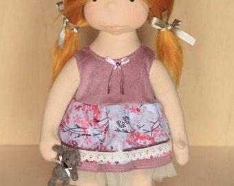 "Summer dress for 16"" Waldorf doll,doll's dress,doll's clothing,Waldorf doll ,doll dress ,doll clothes"