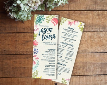 wedding program size - Template