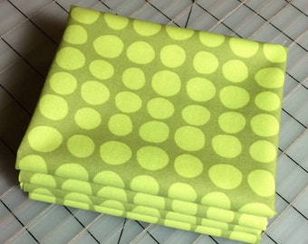 Sun Spots in Olive - FAT QUARTER cut of Amy Butler Love-  AB46