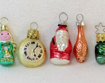 Old German Mercury Glass Ornaments Assortment - Vintage Mid Century Home Decor