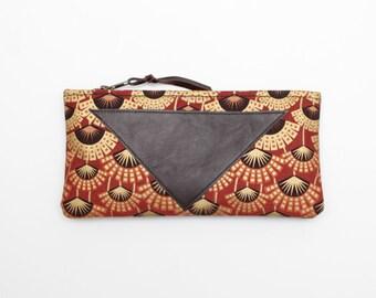 SALE! Graphical makeup bag. Cotton zipper pouch. Cosmetic pouch. Makeup organizer. Pencil pouch. Travel pouch. Clearance sale. /FLARE 144