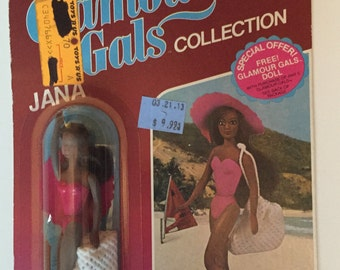 Vintage / Retro Glamour Gal Jana Doll in Sunshiner.  NEW!!! Circa 1981