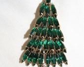 Vintage Eisenber Ice Christmas Tree Rhinestone Brooch 1960s Jewelry