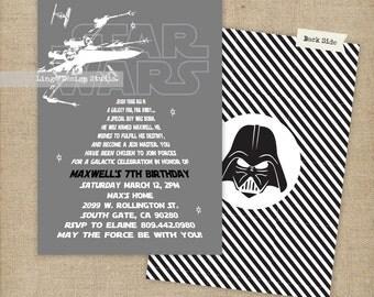 Star Wars Birthday Invitation | Printable or Printed