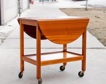 Vintage Mid Century Bar Cart/ Tea Trolly