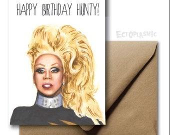 Greeting Card Happy Birthday Card Rupaul Rupaul's Drag Race Fan Art