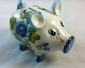 Items Similar To Pink Ceramic Piggy Bank Handmade