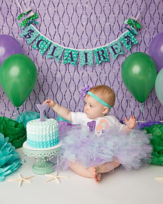 Baby Shower For Third Girl ~ Mermaid birthday banner baby