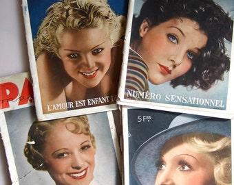 Paris Magazine 1934/35 with nude photos | 4 copies