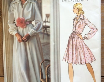 UNCUT Vintage 1970's Dress Pattern Vogue 2880 Vogue Americana by Oscar de la Renta