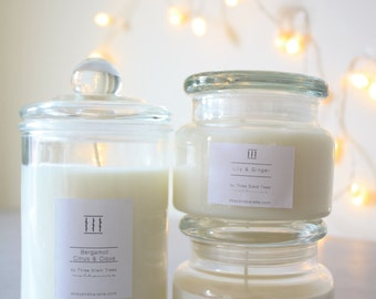 Three Silent Trees | Mix soy candle jars gift pack | FREE SHIPPING