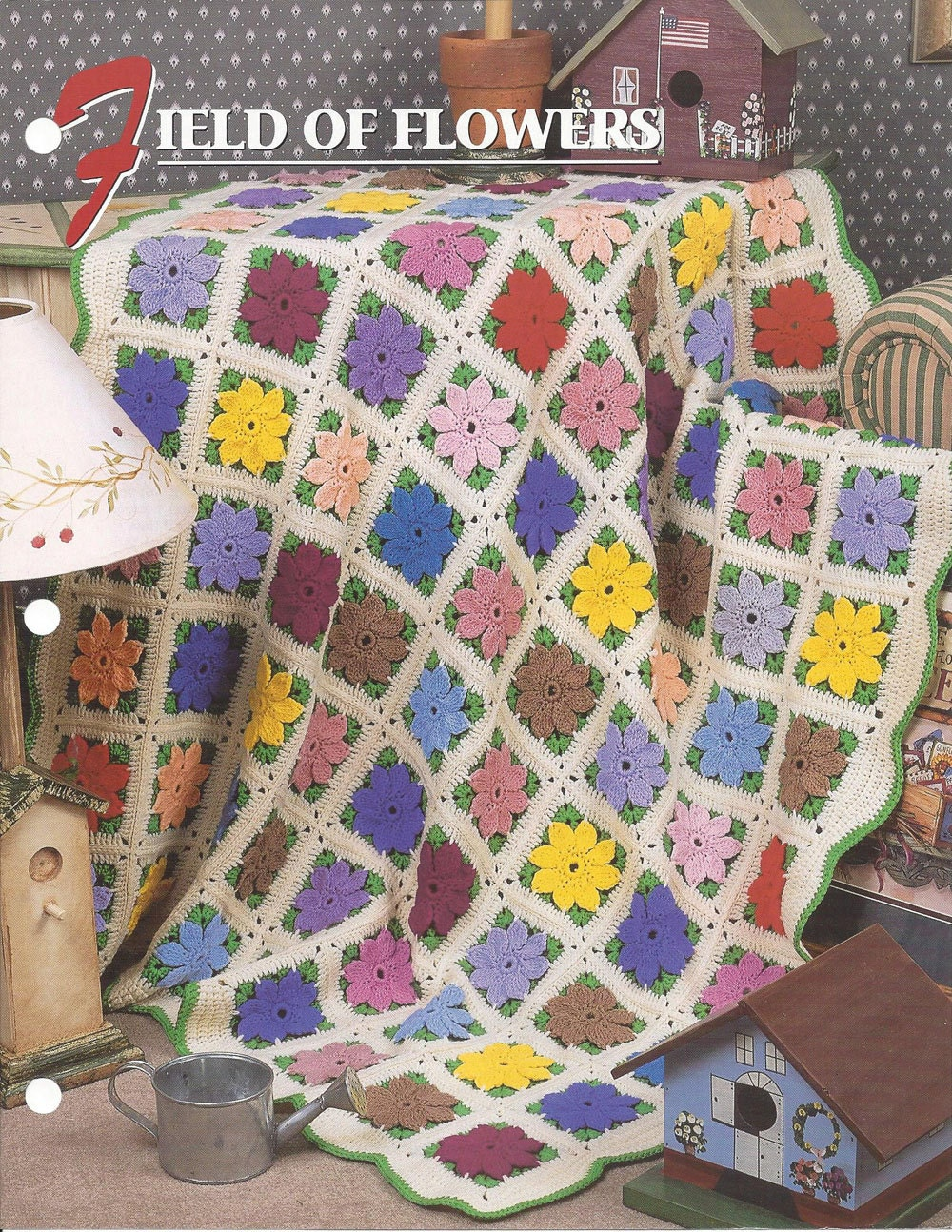 Field of Flowers Afghan Pattern Annies Crochet Quilt