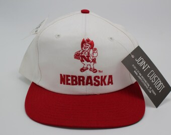 Deadstock UNIVERSITY OF NEBRASKA Snapback Hat Twins Enterprise tag state vintage university athletic sports Lincoln cap