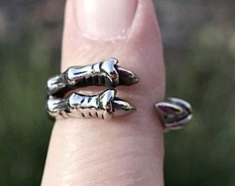 Vintage Stainless Steel Talon Ring