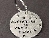 Adventure Keychain, Adventure Is Out There Key Chain, Hot Air Balloon Key Ring, Travel Graduation Gift Wanderlust, Greatist Sky Stars