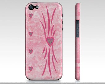 Pink iPhone 5 Cases, Pink Heart iPhone 5 Cases, Girly Pink iPhone 5 Case, iPhone 5 Art Case, Hard Protective Slim Case For iPhone 5
