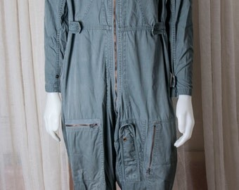 Vietnam era military flight suit. Sage green type K-28. From estate of a commercial pilot
