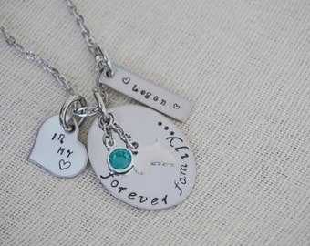 Africa - Adoption Necklace - Forever Family - In My Heart - Name Charm