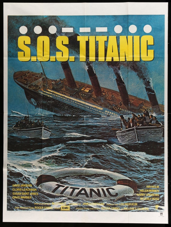 sos titanic original french movie poster 1979