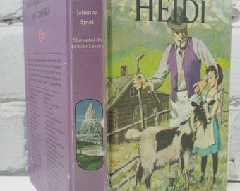 Heidi. By Johanna Spyri. Vintage Hardback Children's Book. Circa 1960's. Childhood Favorites. Bedtime Stories.