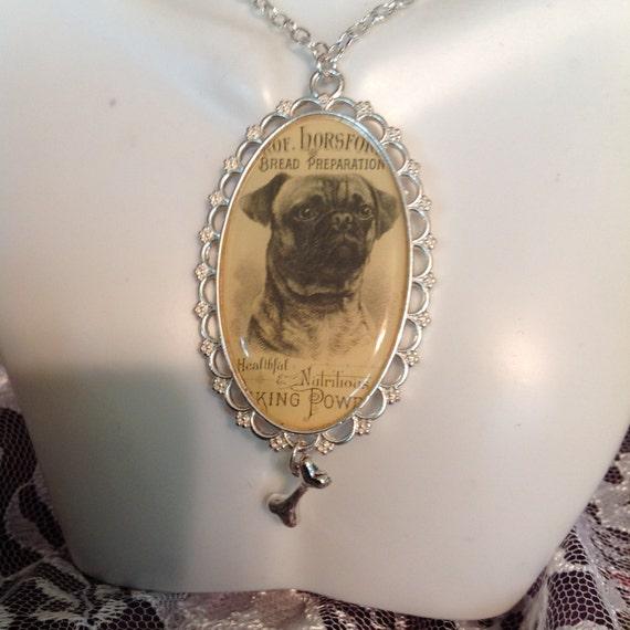 Dog Pendant ~ BOXER PENDANT with Silver Bone