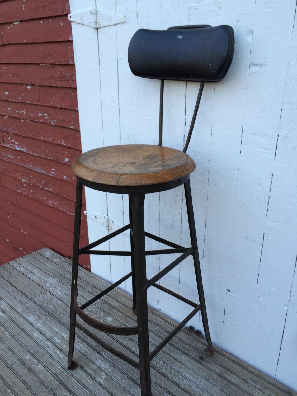 Vintage Angle Steel Stool Co Drafting Table Stool