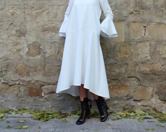 White Maxi dress, Elegant Dress with pockets, Midi dress, Maxi Dress, Plus size dress,Party dress,Trendy dress