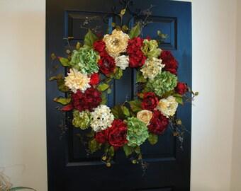 Christmas wreath 30'' HOLIDAYS WREATHS Christmas wreaths for front door wreath, Christmas wreath decorations outdoor WREATH birthday gift