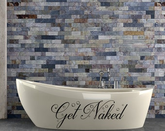 Get Naked Wall Decal Get Naked Bathroom Wall Art Decor Decals