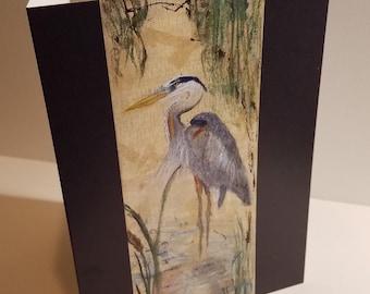 Great Blue Heron, Greeting Cards, Heron Card Set, Bird Painting, Wildlife Painting, 5x7 Card, Blank Card Set, Birthday Card, Holiday Cards