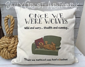 Once we were wolves.... Canine evolution on a cushion!