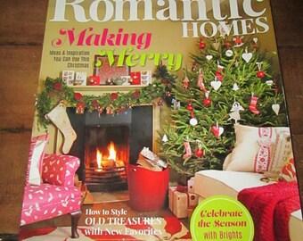 Romantic Homes November 2015 Making Merry Christmas Magazine Design Decor Decorating Book TVAT EPSteam WLVteam hsh