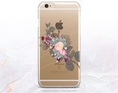 iPhone SE Floral Clear Rubber Case iPhone 6S Plus Clear Case iPhone 6S Clear Rubber Case Samsung Galaxy S6 Clear Case Clear S7 Edge Case U18