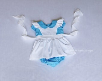 Alice in Wonderland Romper - Alice Romper - Alice in Wonderland - Queen of Hearts - White Rabbit - Alice in Wonderland Costume