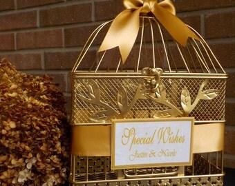 Gold Bird Cage Wedding Card Holder, Wedding Supplies, Shower Card Holder, Bridal Shower Bird Cage, Bridal Shower Decor, Baby Shower Cards