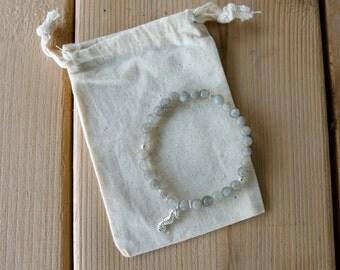 Sterling Silver & Labradorite Mala Seahorse Bracelet