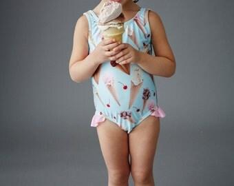 ICE CREAM: Girls tank swimsuit