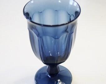 Blue Noritake Provincial Design Goblet
