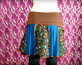 Elven pixie skirt blue and brown