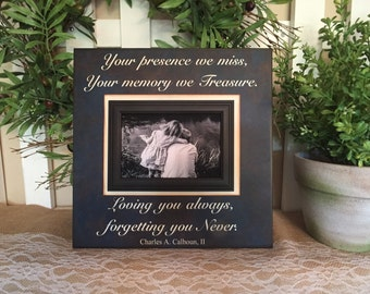 Bereavement Gift ~Lost Loved One Photo Memorial ~Those Memories Become a Treasure ~In Loving Memory Personalized Funeral In-Memory Frame