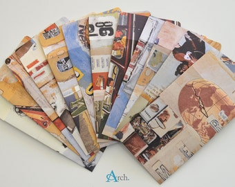 Gift Card Mini Envelopes (12 pcs) - vintage print/Fossil watch collection