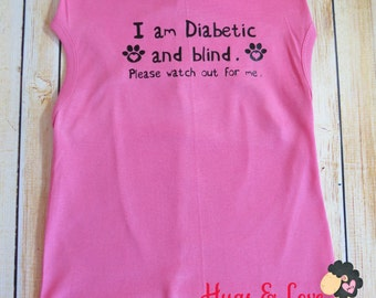 Doggie Shirt - Tank - I am Diabetic