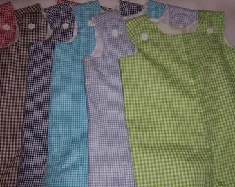 Boys Blank Shortalls Blank Longalls Seersucker & Gingham Shortall Longall Jon Jon with snaps LOTS of colors available