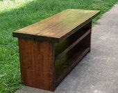 Custom Build for Tom G: Rustic Bench Entryway Hallway Mudroom Storage Bench Shoe Bench